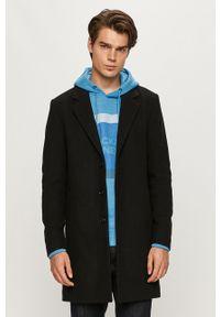 Czarny płaszcz PRODUKT by Jack & Jones na co dzień, bez kaptura, klasyczny #7