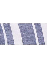 TOP SECRET - Koszula w pasy lniana. Kolor: niebieski. Materiał: len. Długość: długie. Sezon: lato. Styl: elegancki