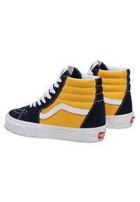 Vans - Sneakersy VANS - Sk8-Hi VN0A32QG4PL1 (Classicsport)Drsblssffrn. Okazja: na co dzień. Kolor: niebieski, żółty, wielokolorowy. Materiał: zamsz, skóra, materiał. Szerokość cholewki: normalna. Styl: casual. Model: Vans SK8