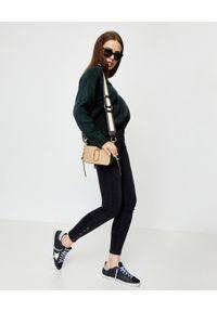 ONETEASPOON - Czarne jeansy z wysokim stanem. Stan: podwyższony. Kolor: czarny. Wzór: aplikacja
