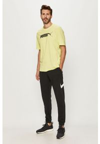 Czarne spodnie dresowe Nike z nadrukiem