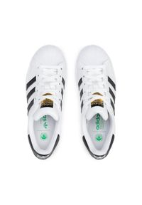 Adidas - Buty adidas - Superstar Vegan FW2295 Ftwwht/Cblack/Green. Zapięcie: sznurówki. Kolor: biały. Materiał: skóra. Szerokość cholewki: normalna. Wzór: motyw zwierzęcy. Sezon: lato. Styl: sportowy