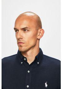 Niebieska koszula Polo Ralph Lauren casualowa, długa, polo