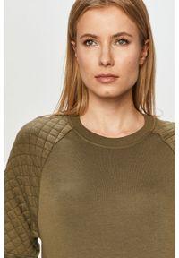 Zielona bluza Jacqueline de Yong długa, z długim rękawem, casualowa, gładkie