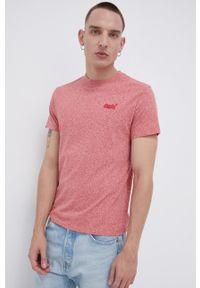 Superdry - T-shirt bawełniany. Okazja: na co dzień. Kolor: różowy. Materiał: bawełna. Styl: casual