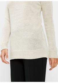 Szary sweter bonprix z długim rękawem, długi, w prążki