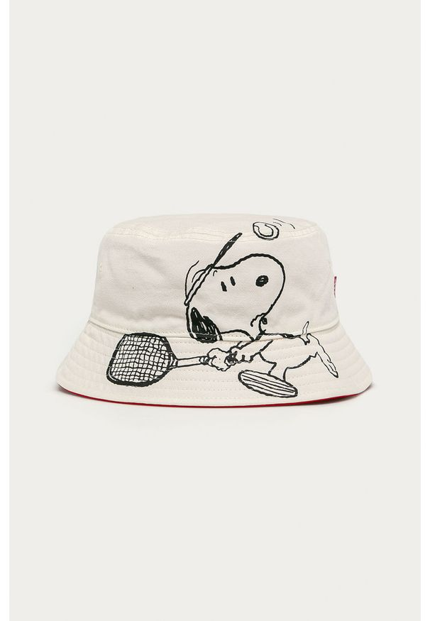Biały kapelusz Levi's® z nadrukiem