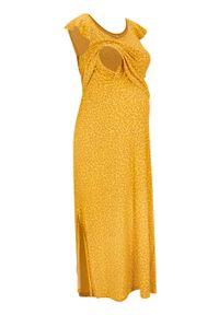 Żółta sukienka bonprix moda ciążowa, maxi