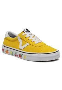 Żółte trampki Vans sportowe