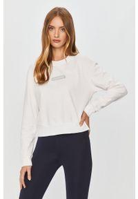 Biała bluza Calvin Klein Performance bez kaptura, casualowa, na co dzień