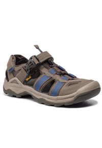 Szare sandały trekkingowe Teva na lato