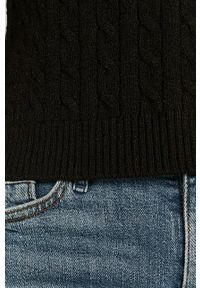 Czarny sweter only na co dzień, z okrągłym kołnierzem, z długim rękawem, długi