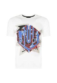 T-shirt Roberto Cavalli casualowy, z nadrukiem, na co dzień, krótki
