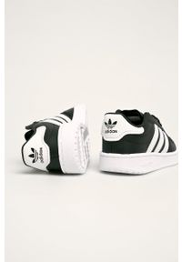 Czarne buty sportowe adidas Originals z cholewką, z nadrukiem, na sznurówki