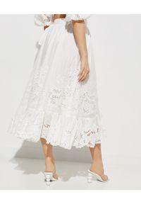 ZIMMERMANN - Biała spódnica Lulu Scallop. Okazja: na co dzień. Kolor: biały. Materiał: materiał. Wzór: haft, aplikacja. Styl: elegancki, casual