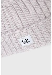 C.P. Company - Czapka wełniana. Kolor: beżowy. Materiał: wełna. Wzór: ze splotem