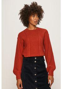 Pomarańczowy sweter Noisy may