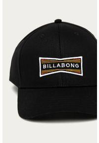 Czarna czapka z daszkiem Billabong gładkie