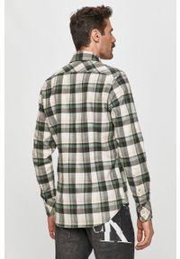 Zielona koszula G-Star RAW na co dzień, z długim rękawem, z klasycznym kołnierzykiem, długa