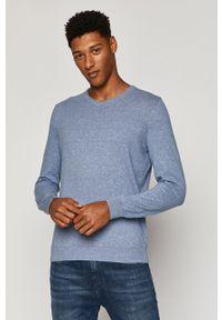 Niebieski sweter medicine z długim rękawem, na co dzień