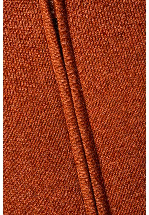 Brązowy sweter rozpinany medicine casualowy, na co dzień