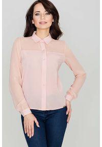 Różowa koszula Katrus klasyczna