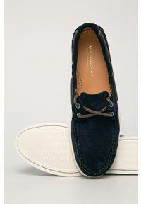 vagabond - Vagabond - Mokasyny zamszowe Scott. Nosek buta: okrągły. Kolor: niebieski. Materiał: zamsz #5
