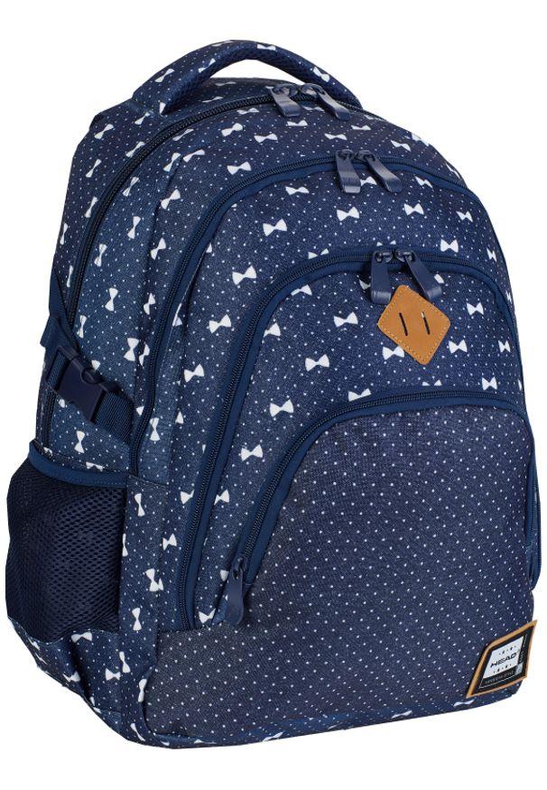 ALWAYS WILD - Plecak szkolny granatowy Always Wild HD-337 HEAD 3. Kolor: niebieski. Materiał: materiał. Wzór: aplikacja, nadruk. Styl: sportowy