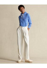 Niebieska bluza bez kaptura Ralph Lauren z haftami