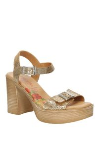Złote sandały Marila na lato