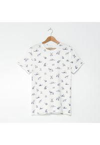 Kremowy t-shirt House z nadrukiem #1
