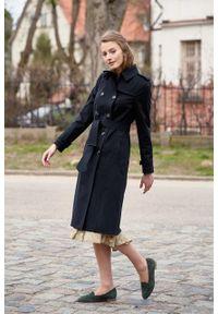 Marie Zélie - Trencz Adria bawełna z elastanem czarny. Kolor: czarny. Materiał: bawełna, elastan. Sezon: lato. Styl: klasyczny #9
