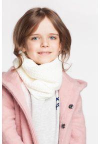 Komin dziewczęcy PaMaMi - Pudrowy róż. Kolor: różowy. Materiał: poliamid, akryl