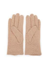 Beżowe rękawiczki Wittchen na jesień, z aplikacjami