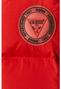 Czerwona kurtka Guess casualowa, na co dzień, z kapturem