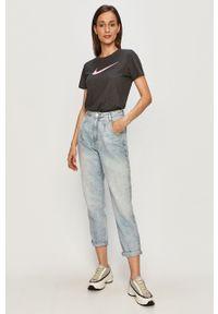 Niebieski jeansy loose fit TALLY WEIJL z podwyższonym stanem #4
