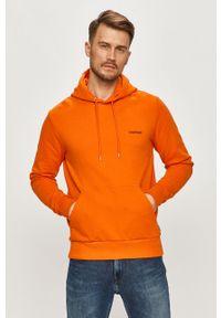 Pomarańczowa bluza nierozpinana Calvin Klein z kapturem
