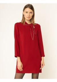 Czerwona sukienka koktajlowa Liu Jo wizytowa