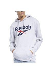 Bluza Reebok sportowa, z klasycznym kołnierzykiem, z aplikacjami