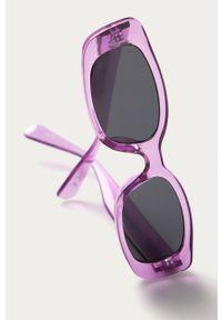 Fioletowe okulary przeciwsłoneczne Vans prostokątne, gładkie