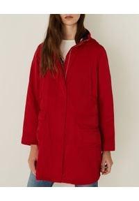 Marella - MARELLA - Czerwona parka z kapturem Ronco. Typ kołnierza: kaptur. Kolor: czerwony. Materiał: jeans, materiał