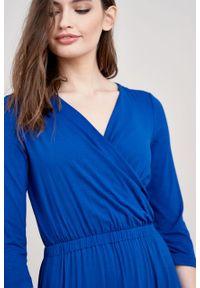 Marie Zélie - Sukienka Rita kobaltowa. Kolor: niebieski
