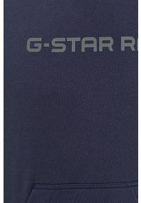 G-Star RAW - G-Star Raw - Bluza. Okazja: na co dzień. Kolor: niebieski. Materiał: dzianina. Wzór: gładki. Styl: casual