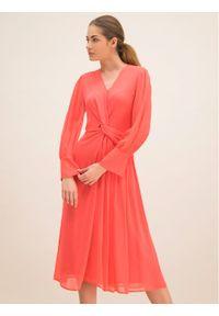 Różowa sukienka koktajlowa Laurèl wizytowa