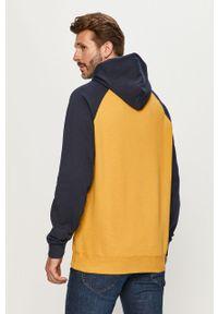 Żółta bluza nierozpinana Quiksilver casualowa, z kapturem, na co dzień