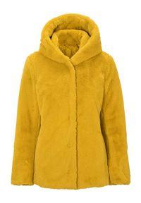 Żółte futro Cellbes krótkie, eleganckie