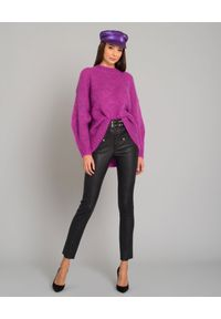 RUSLAN BAGINSKIY - Fioletowy kaszkiet. Kolor: różowy, fioletowy, wielokolorowy. Materiał: materiał