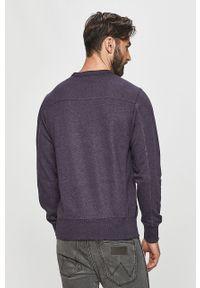 Fioletowa bluza nierozpinana Calvin Klein Jeans na co dzień, bez kaptura, casualowa