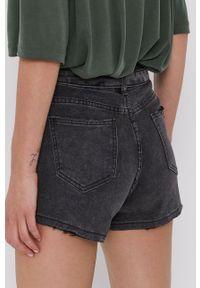 Answear Lab - Szorty jeansowe. Okazja: na co dzień. Kolor: szary. Materiał: jeans. Styl: wakacyjny