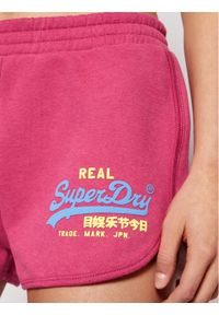 Superdry Szorty sportowe Vl Duo W7110233A Różowy Regular Fit. Kolor: różowy